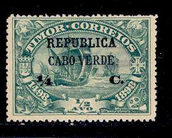 ! ! Cabo Verde - 1913 Vasco Gama On Timor 1/4 C - Af. 129 - MH - Cap Vert