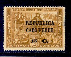 ! ! Cabo Verde - 1913 Vasco Gama On Timor 15 C - Af. 136 - MH - Cap Vert