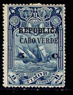 ! ! Cabo Verde - 1913 Vasco Gama On Timor 5 C - Af. 133 - MH - Cap Vert