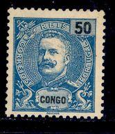 ! ! Congo - 1898 D. Carlos 50 R - Af. 20 - No Gum - Congo Portugais