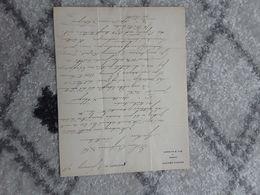 EIGENHANDIG GESCHREVEN BRIEF EN ONDERTEKEND DOOR PETRUS REGOUT MAASTRICHT 1875 NEDERLAND - Historical Documents