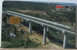SPAGNA - 2000 PESETAS + 100  -TELEFONICA - PONTE - TRENO - Espagne