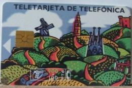 SPAGNA - 900 PESETAS + 100  -FELICE VACANZE - MULINO - PANORAMA - Espagne