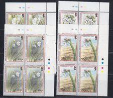 Falkland Islands 2003 Christmas / Flowers  4v Bl Of 4 (corners) ** Mnh (48511) - Falkland Islands