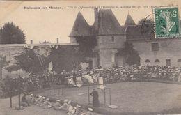 45. HUISSEAU SUR MAUVES . CPA RARETE.  FETE DE GYMNASTIQUE EN L'HONNEUR DE JEANNE D'ARC. ANNEE 1909. + TEXTE - Sonstige Gemeinden