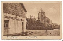 CPA PK  CAMP D'ELSENBORN  L'EGLISE DU VILLEGE  KAMP VAN ELSENBORN  DE PAROCHIALE KERK - Belgique