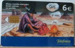 SPAGNA - 6€ - INVIO DI SMS E-MAIL - FAX - INDIANO - Espagne