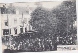 Vilvoorde - Aankomst Van 1 Ste Tram Brussel-Vilvoorde In 1908 (geanimeerde En Gelopen Prachtkaart Met Zegel) - Vilvoorde