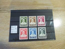 Belgien 1953, Mi.Nr. 961-66 - Unused Stamps