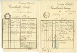 Mainz U. Laubenheim 3 Dokumente Stempelpapier 1849 1863 1868 Franz Falk Etc. - Historical Documents
