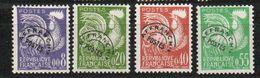 Préoblitérés Série Coq Gaulois En Nouveau Franc - N° 119 à 122 Neufs (4 Valeurs) - Precancels