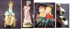 Lot De 5 Figurines Porcelaine, Sans Signature (prix Port Compris En Suivi) - Andere Verzamelingen