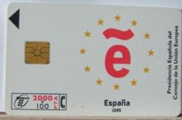 SPAGNA - 2000 PESETAS + 100  - CHIP GRANDE ESPANA UNIONE EUROPEA 1995 - Espagne