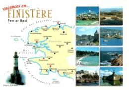 CPM - FINISTERE - Carte Géo - ... - Edition Cl.Pastor - France