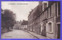 Carte Postale 50. Carentan  Rue Sivard De Beaulieu  Très Beau Plan - Carentan