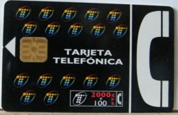 SPAGNA - 2000 PESETAS + 100  - CHIP COME DA FOTO - TARJETA TELEFONICA - Espagne