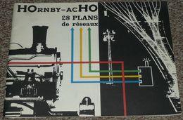 Ancien Manuel Pratique Hornby Acho Meccano Tri-ang, Plans De Réseaux Pour Modélisme Trains Train Locomotives 2e Edition - Antikspielzeug