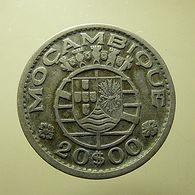 Portuguese Moçambique 20 Escudos 1952 Silver - Portugal