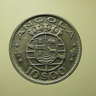 Portuguese Angola 10 Escudos 1955 Silver - Portugal
