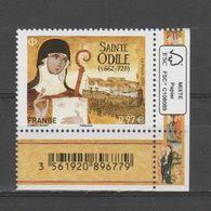 FRANCE / 2020 / Y&T N° 5411 ** : Sainte Odile X 1 CdF FSC & Code-barres - Frankreich