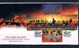 FDC 100 éme  Anniversaire 1ere Guerre Mondiale  Centenary Of  World War 1 1914 - 1918   PITCAIRN ISLANDS 2014 - Stamps