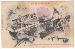 Prix Fixe - ROMANS - Lot 2 Cartes -Souvenir - Fleurs - Tour # 2-13/16 - Romans Sur Isere