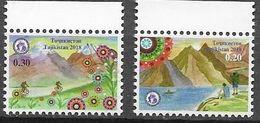 TAJIKISTAN, 2018, MNH, TOURISM, CYCLING, BICYCLES, MOUNTAINS, HIKING, FISHING, BOATS, 2v - Other