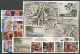 Polynesie Annees Completes (1998) N 555 A 577 Et BF 23 (Luxe) - Polynésie Française