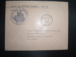LETTRE MAIRIE OBL.1-2 1966 LES EPESSES VENDEE (85) - Marcofilia (sobres)