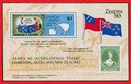104. SAMOA 1980 SET/5 STAMP M/S TREATY OF FRIENDSHIP BETWEEN NEW ZEALAND & WESTERN SAMOA  . MNH - Samoa