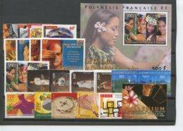 Polynesie Annees Completes (2000) N 610 A 630 Et BF 25 (Luxe) - Polynésie Française