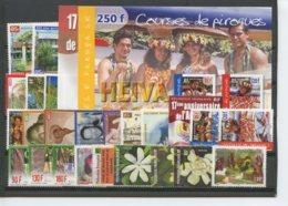 Polynesie Annees Completes (2001) N 631 A 655 Et BF 26 A 27 (Luxe) - Polynésie Française