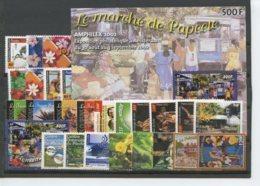 Polynesie Annees Completes (2002) N 656 A 681 Et BF 28 (Luxe) - Polynésie Française