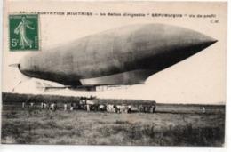 """Le Ballon Dirigeable """"République"""" Vu De Profil - Airships"""
