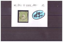 SUISSE - RAPPEN No SBK 26C OBLITERE - COTE: 140 CHF à 10% De La Cote - 1854-1862 Helvetia (ongetande)