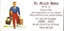 """34  SETE  """" Le Grand HOTEL """"  17  Quai De Tassigny - Frankreich"""