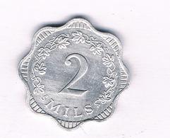 2 MILS 1972 (mintage 43000ex) MALTA /5557/ - Malta