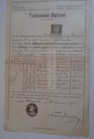 D172602 Old Document -  Poland Gronków - Ostrowsko - 1885 - Jacobus  Harsza - Baran -Antonius Maciejczyk - Nacimiento & Bautizo
