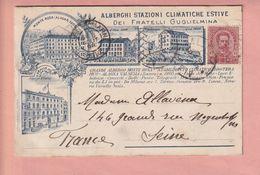 OLD POSTCARD -  ITALY -  EARLY CARD - ALBERGO - FRATELLI GUGLIELMINA ALAGNA VALSESIA - Novara
