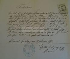 D172603 Old Document -  HARDEGG (Nieder-Österreich) - 1870 - Nacimiento & Bautizo