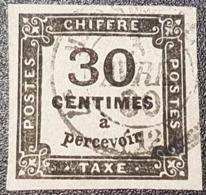 Taxe N° 6 Avec Oblitération Cachet à Date  TTB - 1859-1955 Used