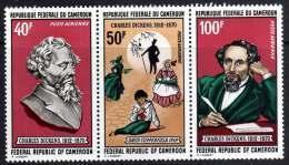 Cameroun  PA N° 173A  XX  Centenaire De La Mort De Charles Dickens, Le Triptyque Sans Charnière TB - Kamerun (1960-...)