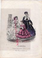 GRAVURE MODE - CENDRILLON JOURNAL DES PETITES DEMOISELLES- ENFANT- ROBE- - PARIS 92 RUE RICHELIEU- - Estampes & Gravures