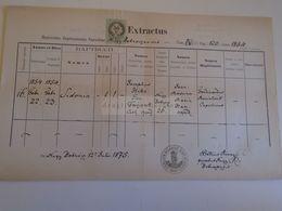 D172605  Old Document -  SLOVAKIA  Nagybobróc   Bobrovec Zilina- 1875 Sidonia HIKO  -Petrus Árvay Parochus - Nacimiento & Bautizo