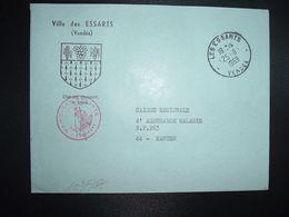 LETTRE MAIRIE OBL.25-9 1969 LES ESSARTS VENDEE (85) + BLASON - Marcofilia (sobres)