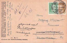 DEUTSCHES REICH - POSTKARTE 1927 SONTHEIM - GROSS-EISLINGEN - REUTLINGEN /ak742 - Lettres & Documents