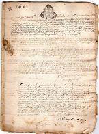 Archive De L' Eglise De MANE  ( 04 ) 1685  Répertoire Des Baptèmes Enregistrés  12 Pages - Documents Historiques
