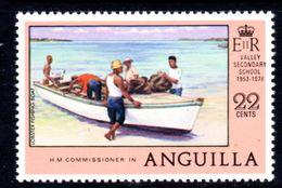ANGUILLA - 1978 ANNIVERSARIES 22c FISHING VIEW STAMP FINE MNH ** SG 325 - Anguilla (1968-...)