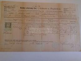 D172606  Old Document - Czechia Moravia - Jihlava - Zámek Žďár Nad Sázavou / Schloss Saar 1883 Maria Lerina - Nacimiento & Bautizo