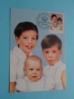 Les Princes Guillaume, Félix Et Louis 29-3-1988 ( See / Voir / Zie - Photo ) Jour D'Emission / FDC - Courvoisier ! - Grand-Ducal Family